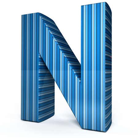 alfabético: Blue letter over white background. 3d rendered image