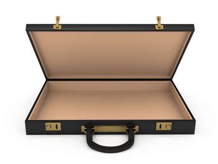 Open zwarte behuizing op een witte achtergrond. computer gegenereerde afbeelding