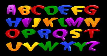 Cartoon vector font, full alphabet. For your design