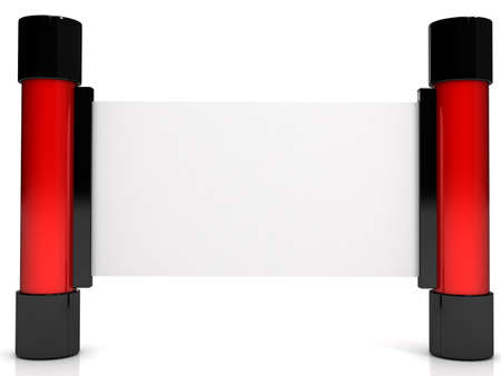 3d banner over white background. computer generated image photo