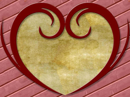 digitally: abstract background for your design with hearts frame Stock Photo
