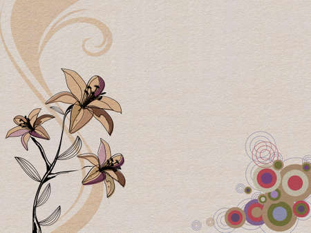 abstract background for your design with flower Stock Photo - 12285346