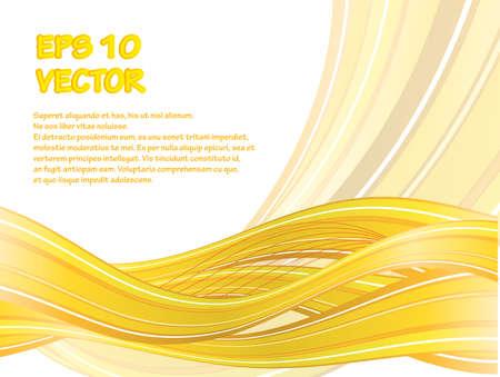 黄色の波と抽象的なベクトルの背景。eps10