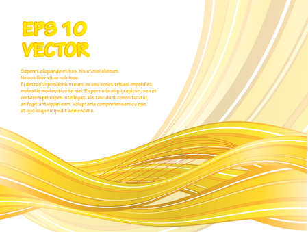 Abstract vector background with yellow waves. eps10