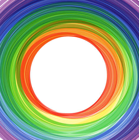 Abstract vector background with rainbow waves. eps10 Vector