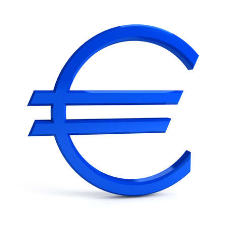 central bank: Euro sign over white background