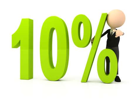 Percent symbol on white background photo