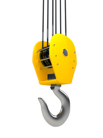 Industrial hook hanging on a chain Stock Photo - 14796019