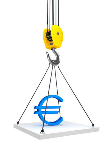 Industrial hook hanging on a chain Stock Photo - 14584206