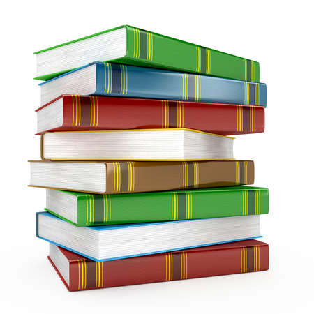 Pile of books on white background Stock Photo - 14766061