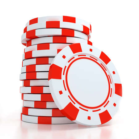 Simple Colored Casino chips Stock Photo - 15490628