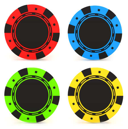 las: Simple Colored Casino chips Stock Photo