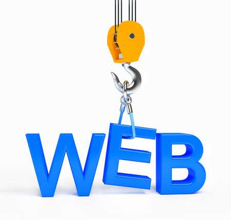 Construction web site on white background Stock Photo - 15628582
