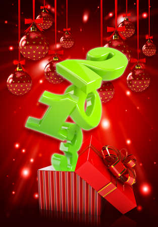 Happy new year 2013 3d background Stock Photo - 16082400