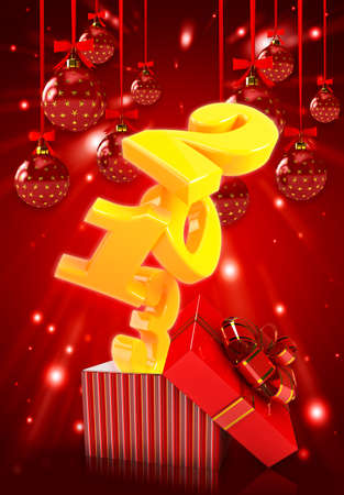 Happy new year 2013 3d background photo