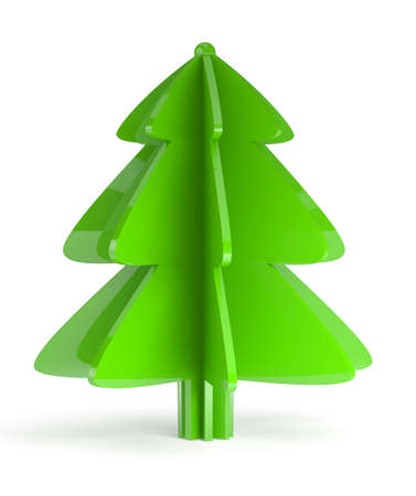 Illustration of christmas tree on white background illustration