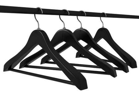 Wood hanger on the background Standard-Bild