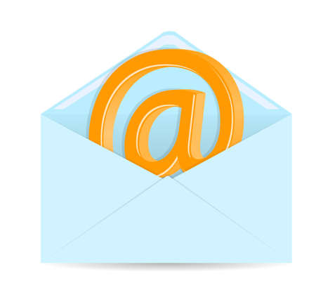 Opened envelope on white background Vector
