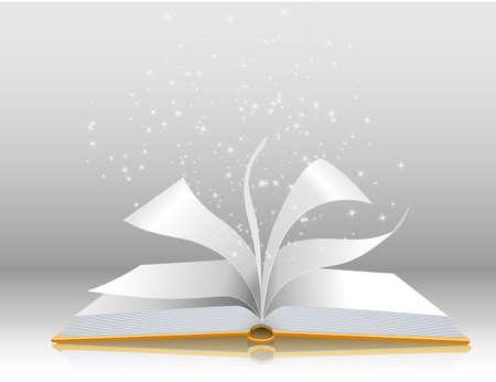 copertina libro antico: Illustrazione di un libro aperto Vettoriali