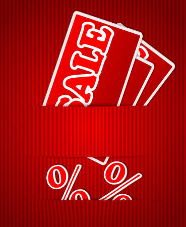 Sale or discount tags for price list Vector