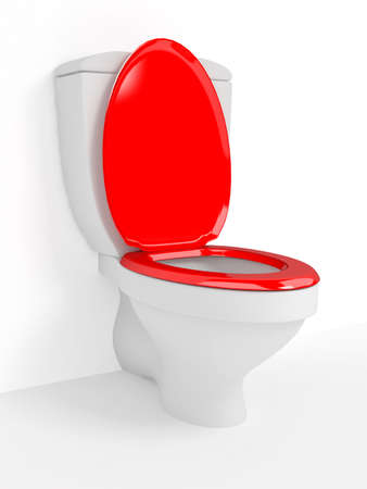 Toilet bowl, with the closed seat Stock Photo - 19502598