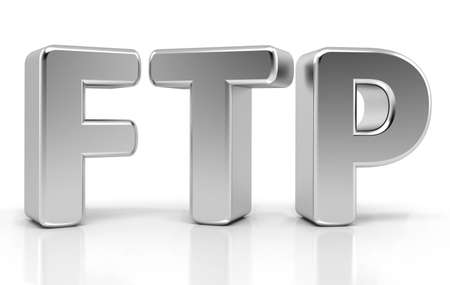 ftp: Ftp Sign  File Transfer Protocol  3d concept