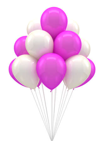 happy people white background: Color ballon for party, birthday