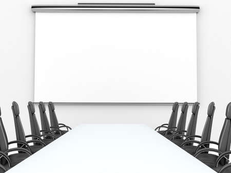 projection: Render of meeting room with projection screen