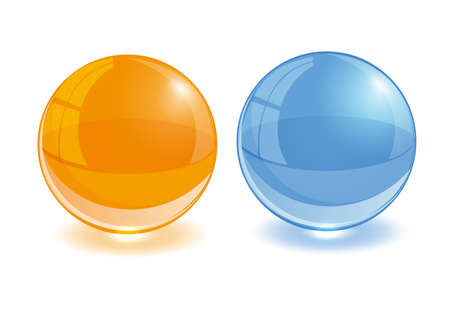 Any color glass balls set. EPS10 Vector