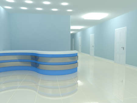 reception desk in the office  3d rendered image photo
