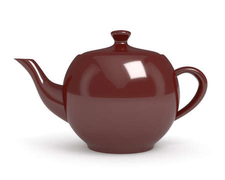 Teapot isolated on white. 3d render photo