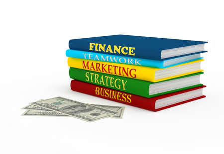 Business book. 3d rendered image photo