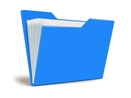 paper art projects: Vector folder with documents