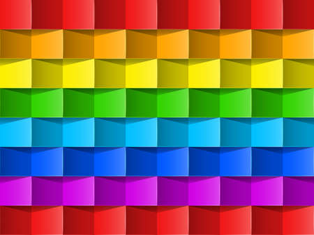 rainbow vector: Vibrant colorful rainbow vector background   Template for design