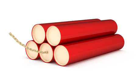Red Dynamite isolated on a white background photo