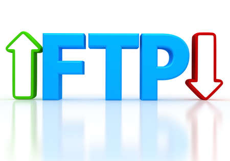 protocol: 3d illustration of FTP ( File transfer Protocol )