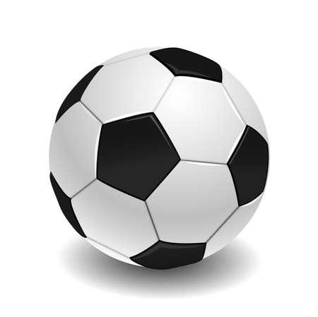 socca: pallone da calcio su bianco Vettoriali