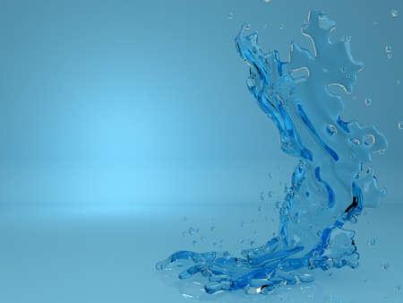 jet stream: abstracto azul salpicaduras de líquidos