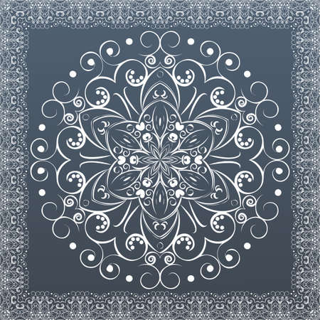 Ornamental round lace, flower  vector Vector