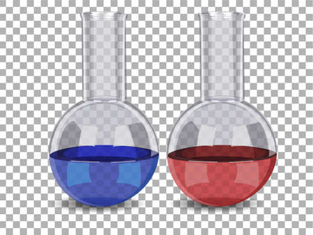 reagents: Test tube with liquid isolated. vector illustration