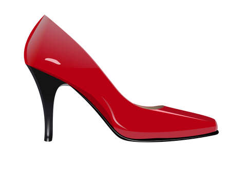 tacones rojos: Red High Heel. Ilustración vectorial Vectores