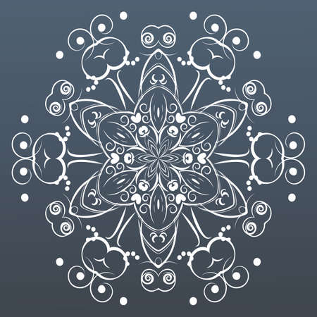 lace vector: Ornamental round lace. Vector illustration Illustration