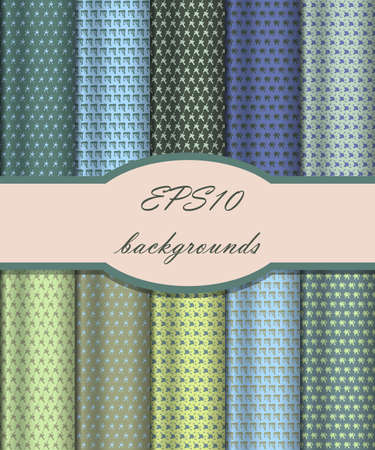 Vector of Seamless Patterns set Vector