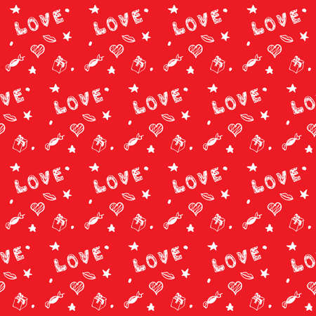 valentines day red seamless background Vector