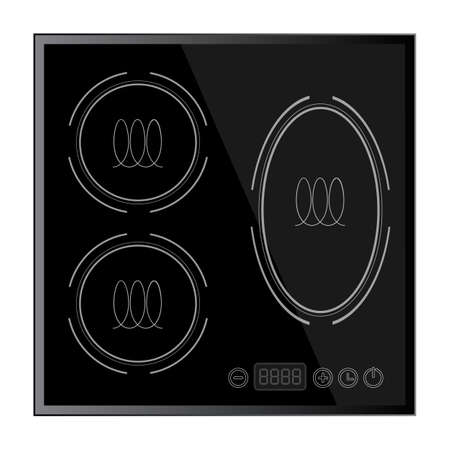 Kitchen - Induction hob, household appliances 일러스트