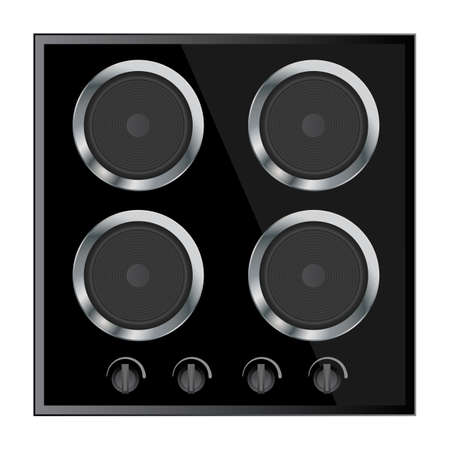 oven range: surface for electric stove vector illustration isolated