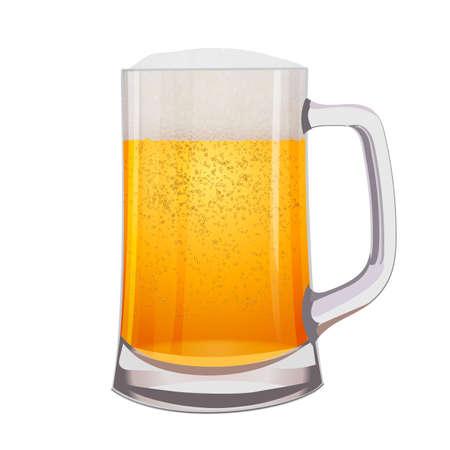 Uitstekende Geïsoleerde mok bier. Vector illustratie