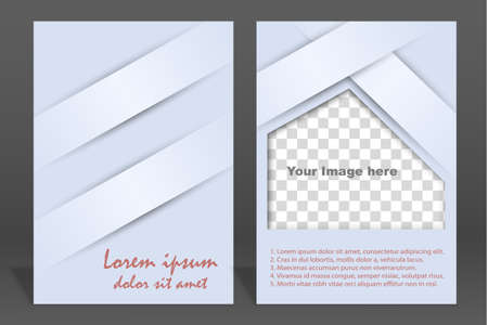 Vector  brochure or magazine cover  template Vector