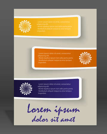 flayer: Vector  brochure or magazine cover  template