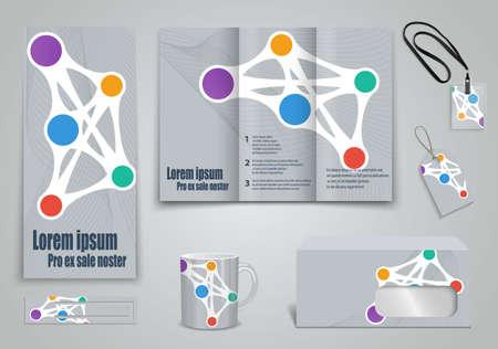 Set of presentation of flyer design content Vector